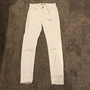 Zara skinny white denim